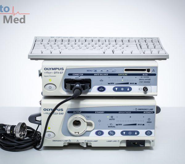 Zestaw endoskopowy OLYMPUS Visera OTV-S7 + CLV-S40 + głowa kamery OTV-S7
