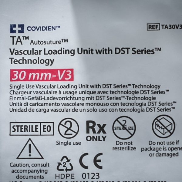 Wkład COVIDIEN TA30V3L 30mm-V3 Vascular Loading Auto Suture