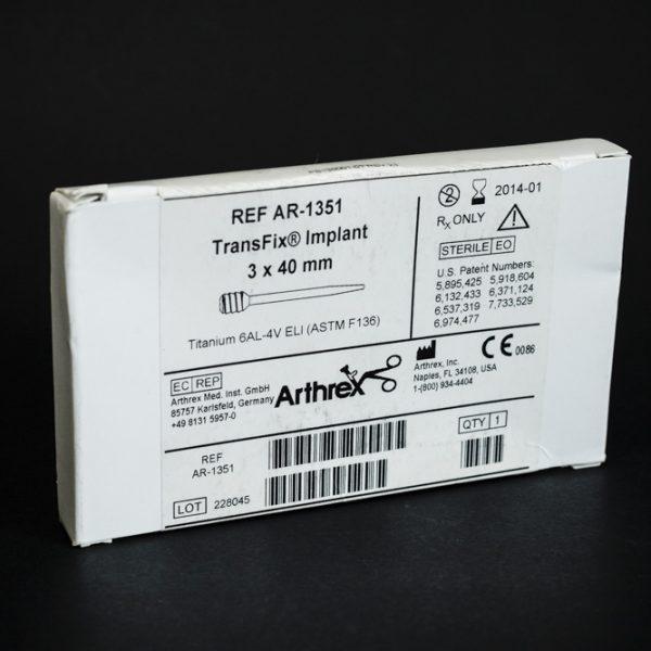 Implant TransFix 3 x 40 mm Arthrex tytan (26/4)
