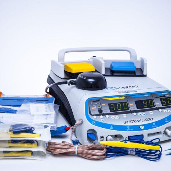 Diatermia chirurgiczna CONMED 5000 ESU z akcesoriami