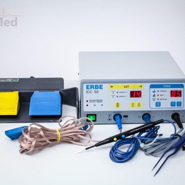 Diatermia chirurgiczna ERBE ICC 50 z akcesoriami