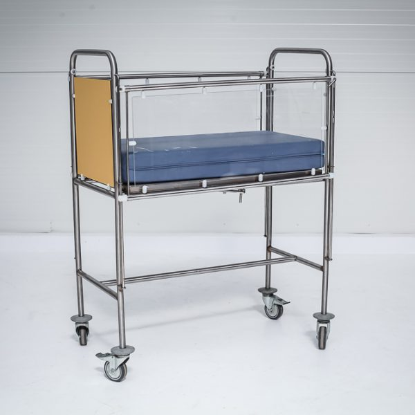Łóżeczko szpitalne dziecięce z materacem