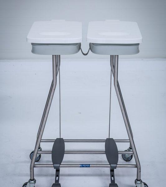 Wózek na odpady medyczne kosz podwójny