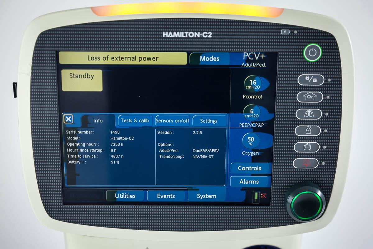 Respirator szpitalny Hamilton C2