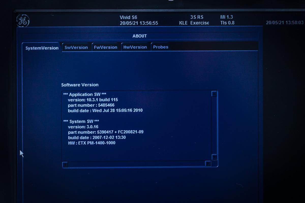 Aparat USG GE Vivid S6 Ultrasonograf 3 Głowice