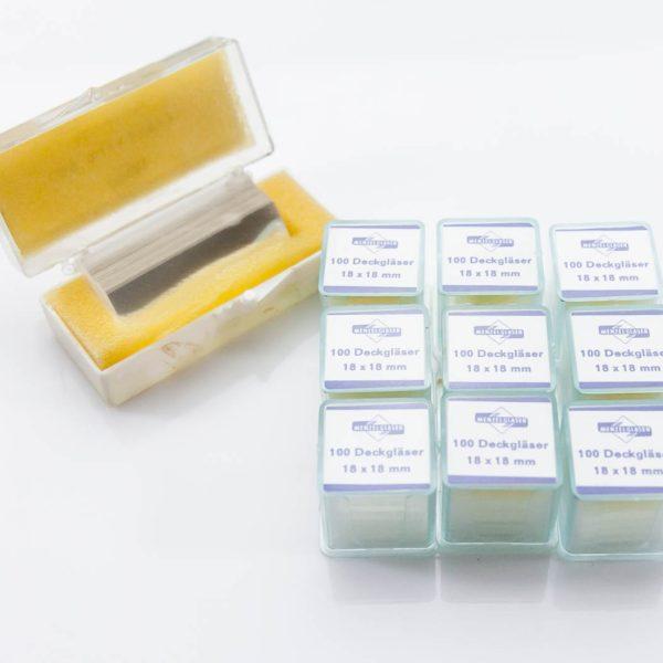 973x Szkiełka mikroskopowe nakrywkowe 18x18 24x50 (12/56) - Arestomed