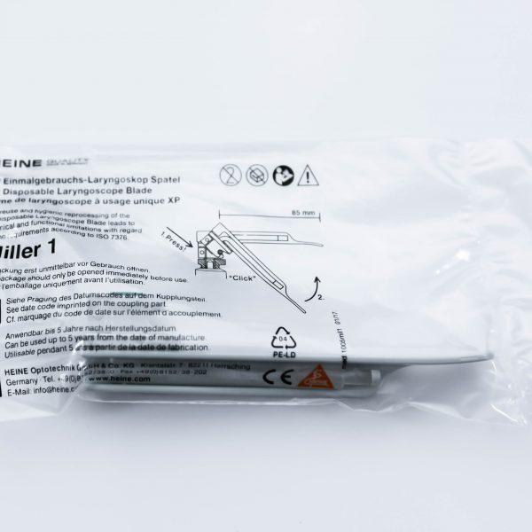 Łyżki laryngoskopowe jednorazowe Miller 1 Heine XP 25 szt - Arestomed